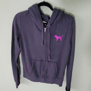 Pink Victoria's Secret Bling Zip Up